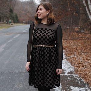 Anthropologie polka dotted dress
